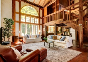 Great room of guest barn