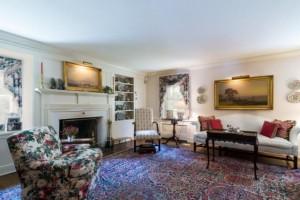 Living room at Ann Pugh farmhouse
