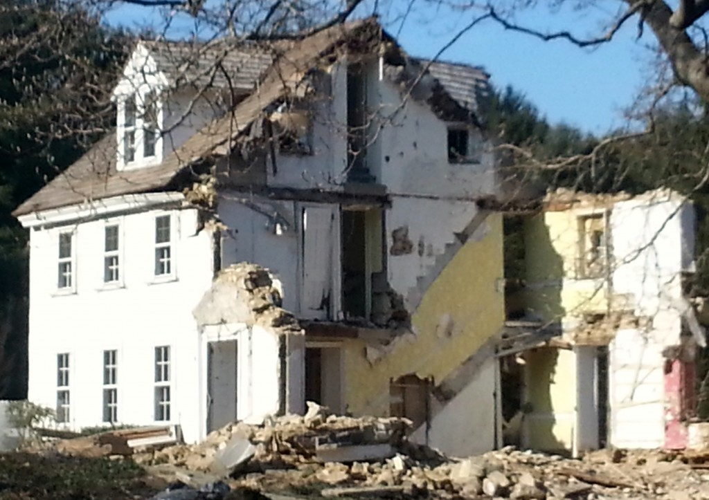 18th c Pugh Road House demolished January 2014