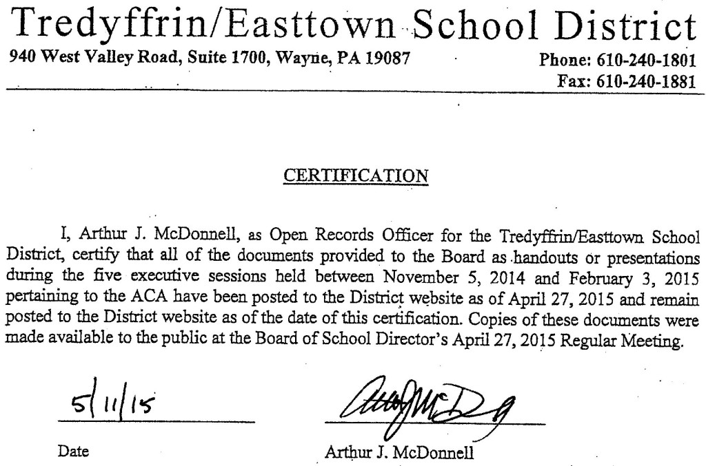 Neal Colligan vs TESD Art McDonnell certification