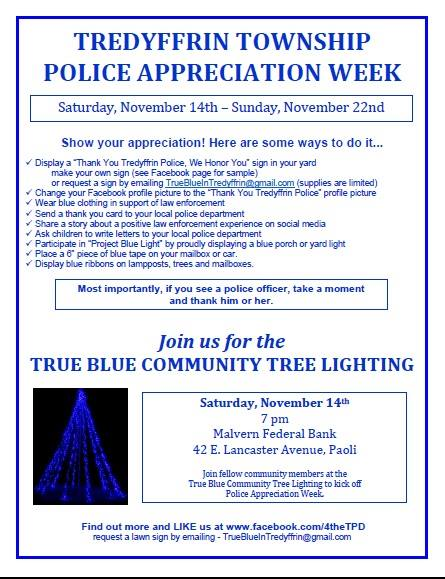 Tredyffrin Township Appreciation Week