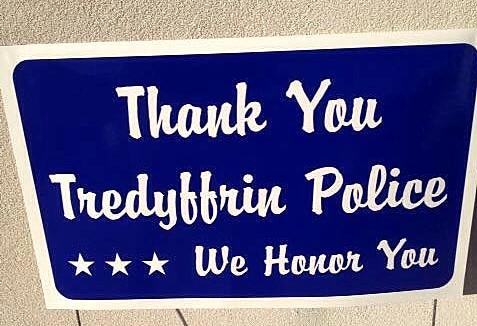 Tredyffrin Township police signs