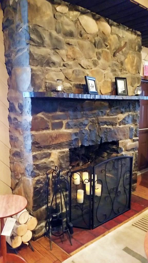 Covered Wagon Inn fireplace
